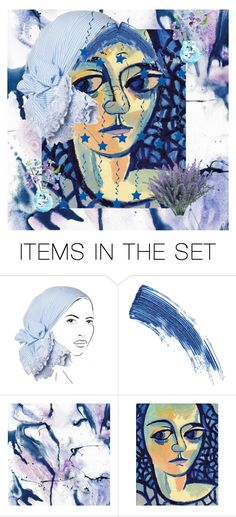 """""""Blue Woman"""" by sunnyjuke ❤ liked on Polyvore featuring art"""