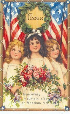 In the earliest years of the century no holiday inspired a larger number or a more beguiling display of colorful, historic and patriotic postcards than did Memorial Day. Patriotic Images, Patriotic Crafts, July Crafts, Fourth Of July Decor, 4th Of July Decorations, July 4th, Vintage Greeting Cards, Vintage Postcards, July Images