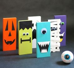 Monster Bowling   25+ Halloween crafts for kids