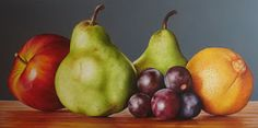 Galeria Bodegones Frutas Pinturas Paper Fruit, Fruit Art, Hyper Realistic Paintings, Still Life Oil Painting, Fruit Painting, Indian Art, Food Art, Colored Pencils, Pear