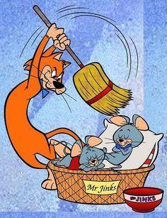 Pixie and Dixie Cartoon   Los ratones hartos de ser perseguidos por el gato con una: