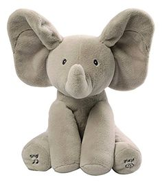 Flappy Elephant animated plush plays peek-a-boo and sings Do Your Ears Hang Low Ears flap during play to delight baby  #BestPlushToys, #BestSoftToysForBabies, #BestTeddyBears, #PlushToys, #SoftToysForKids, #StuffedAnimals, #StuffedAnimalsForToddlers, #TeddyBears