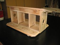 Cedar DIY Squirrel Feeder
