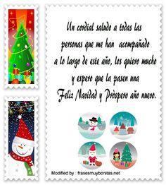 buscar frases originales para enviar en Navidad y Año Nuevo a mi novio: http://www.frasesmuybonitas.net/mensajes-de-navidad-y-ano-nuevo/