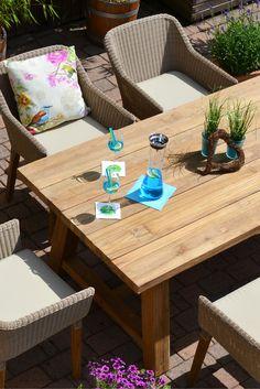 Sonnenstunden, Drinks & ein Lächeln im Gesicht! :) #gartenmöbel #gartengarnituren #echtholz