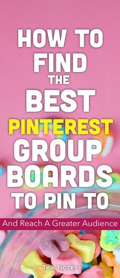 Ever wonder how to use Pinterest group boards to grow your blog, your income, and your online business? In this post, I give you the process for bloggers to join group boards, find the best ones to pin to, and tips and tricks to get the most engagement and grow your audience. I also give you a huge list of group boards to join! Read on to find out the group board process! Teal Notes   Find Your Best Group Boards   Make Money Online  