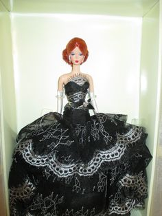 Rare DAHLIA Platinum Label Silkstone Barbie NRFB with Mattel Shipper J4255 VHTF | eBay
