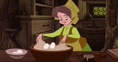 Fauna's gentle, though ill-advised, dough folding. | 21 Oddly Satisfying Disney Moments