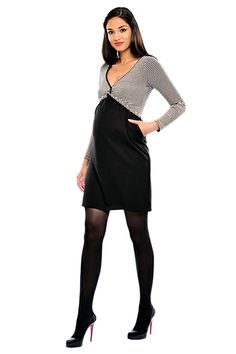 Tess Twist Front Maternity Dress With Pockets by Olian | Maternity Clothes    available at www.duematernity.com