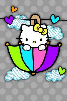 Find images and videos about cute, wallpaper and hello kitty on We Heart It - the app to get lost in what you love. Hello Kitty Art, Hello Kitty My Melody, Hello Kitty Items, Sanrio Hello Kitty, Hello Kitty Pictures, Kitty Images, Hello Kitty Imagenes, Wonderful Day, Miss Kitty