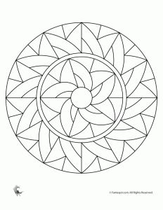 Simple Art Deco Mandala