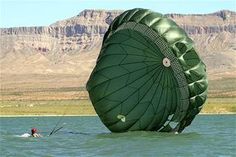 SrA Harding, landing in Lake Mead as part of a rescue and recovery exercise. Tandem Jump, Air Force Special Operations, Fixed Wing Aircraft, Lake Mead, Killed In Action, Rappelling, Small Boats, Natural Disasters, Landing