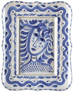 A Stig Lindberg faience dish, Gustavsberg studio - Modern Autumn Sale, stockholm 557 – Bukowskis Pottery Plates, Ceramic Pottery, Pottery Art, Ceramic Art, Blue Pottery, Umea, Blue And White China, Blue China, Stig Lindberg