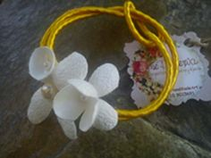bracelet with white silk cocoons