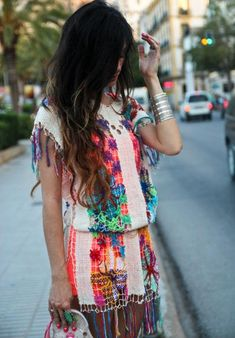 cute, unusual get up for a cool wedding for the hippie gypsy style