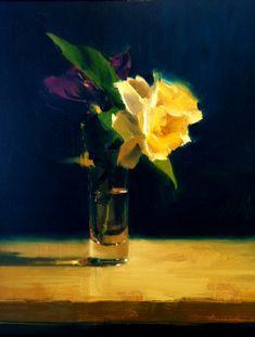 Ben Aronson - Gardenia, 2011, oil on linen, 15 x 11.5 inches