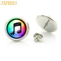>> Click to Buy << TAFREE fashion colorful mucical note stud earrings elegant charming women musician music lover jewelry friends wedding gift D472 #Affiliate