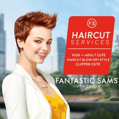 Traditional, Modern, or Edgy?  The Haircut Sale is going on NOW at participating hair salons #FantasticSams #Haircut #Sale