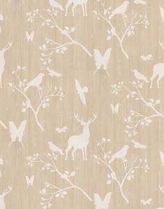 Deer/bird/butterfly wallpaper