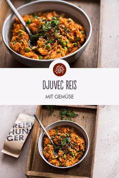 Djuvec Reis mit Gemüse. Guten Reishunger! Vegan Chili Sin Carne, Nutritional Value Of Rice, Vegan Recipes, Snack Recipes, Vegan Food, Benefits Of Rice, Fat Foods, Vegan Dinners, Cravings