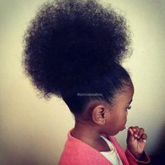 Little girl Afro hair Baby Girl Hairstyles, Black Girls Hairstyles, Cute Hairstyles, Kids Hairstyle, Asian Hairstyles, Girl Haircuts, Toddler Hairstyles, Beautiful Hairstyles, Latest Hairstyles