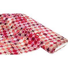 """Tissu jersey """"rétro"""", rose vif/multicolore   acheter en ligne sur buttinette - loisirs créatifs"""