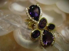 Ring in gold with amethyst and bright - Contact: Skype: andersonweb