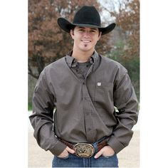 Cinch Mens Aqua Blue Solid Long Sleeve Western Shirt | Get Ready ...