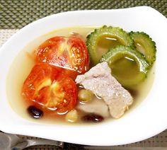 コーヤとトマトと豆のスープ