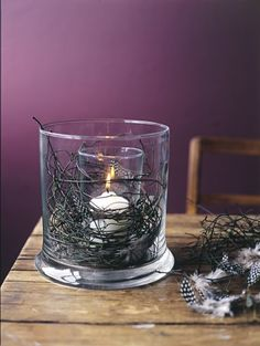 glass in a glass candle