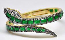Victorian 4.68ct Rose Cut Diamond Gemstone Snake Women's Bracelet Christmas