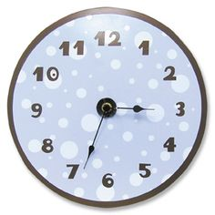 POLKA DOT Pink and Brown Wall Clock Pink and Brown Decor