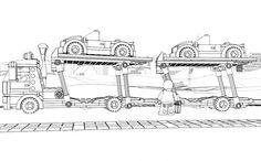 LEGO Coloring Sheet 60060 Auto Transporter