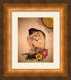 Silent Sorrow Framed Print By Maria Ines Quevedo
