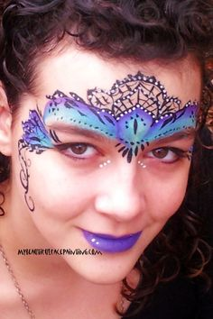 painted on masquerade masks - Google Search