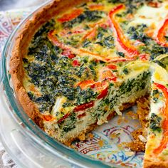 Veggie-Packed Quiche with gluten and grain free crust