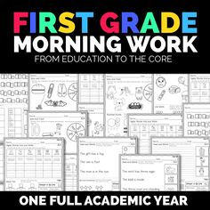 First Grade Morning Work Activities! Get two weeks of primary literacy / math activities for free. Start your beginning of the year routine off right.