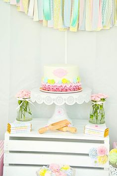 Cute as a button birthday party full of ideas! Via KarasPartyIdeas.com - The place for all things party! #cuteasabutton #birthdayparty #girlpartyideas
