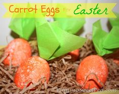 Carrot Eggs for Easter