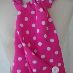 Etole écharpe foulard femme agréable mariage pois rose et blanc