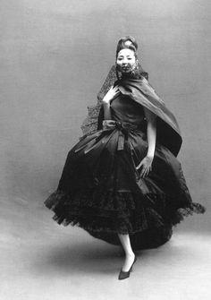 China Machado in Dior, by Richard Avedon, Paris, August 1959