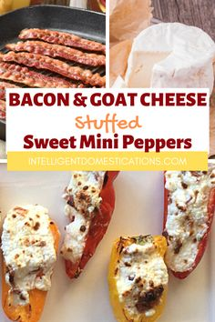 Quick And Easy Appetizers, Easy Appetizer Recipes, Easy Recipes, Mini Sweet Peppers, Stuffed Mini Peppers, Bacon Recipes, Fudge Recipes, Lady Fingers Dessert, Watergate Salad Recipes