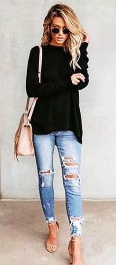 Style snapshot of fall outfits you can wear everyday this season. Casual looks you need for a stylish wardrobe! High Street Fashion, Fashion Mode, Look Fashion, Womens Fashion, Fashion Ideas, Trendy Fashion, Ladies Fashion, Fall Fashion 2018, Fashion Clothes