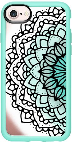 Casetify iPhone 7 Classic Grip Case - Mandala in Teal Water by Jande Laulu #Casetify