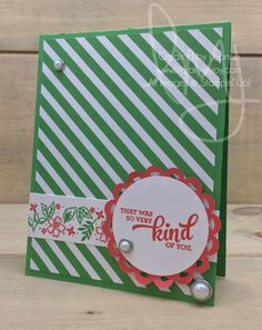 Very Kind | Stampin\' Up! | Mixed Borders #literallymyjoy #kindness #cucumbercrush #watermelonwonder #randomactsofkindness #doily #pearl #20162017AnnualCatalog
