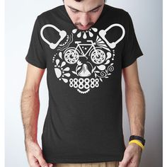 Day Of The Bear Cycle Tee Black now featured on Fab.
