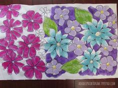 Decorate your own fabric : sharpie, paint, fabric dye