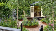 RHS Hampton Court Flower Show 2016 has showcased more stunning garden designs this year, we contributed to many medal-winning gardens Hampton Court Flower Show, Rhs Hampton Court, Garden Club, Summer Garden, Garden Entrance, She Sheds, Garden Inspiration, Garden Ideas, Design Inspiration