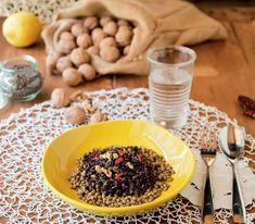 Riso nero  con lenticchie Gnocchi, Acai Bowl, Cereal, Pasta, Cooking, Breakfast, Recipes, Italy, Food