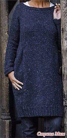 Твидовое платье (спицами) - Вязание - Страна Мам